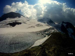 Kilátás a klettersteig végén a Steingletscher-re