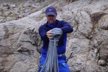 Kötélösszeszedés - sziklamászás oktatási anyag