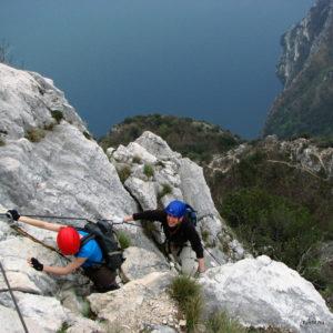 Szilveszteri via ferrata a Garda-tónál