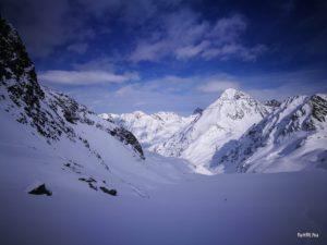 Schrankogel 3497m, téli magashegyi tanfolyam