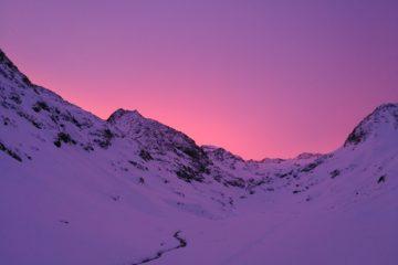 Alpesi napfelkelte, téli magashegyi tanfolyam