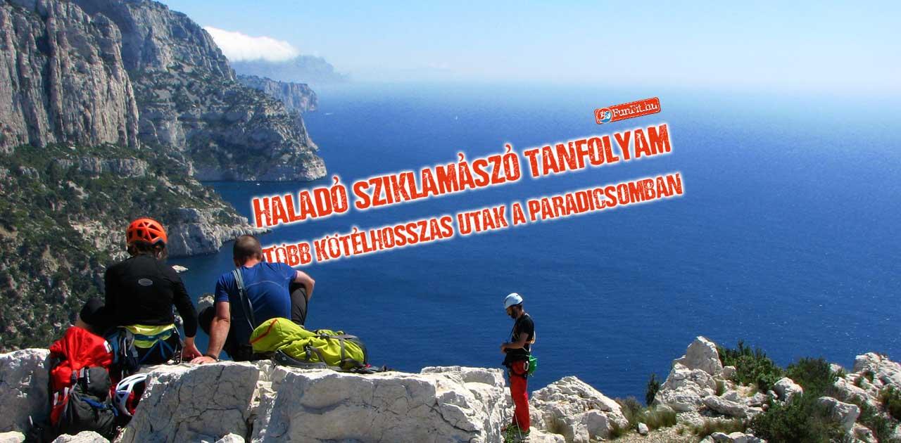 Haladó több kötélhosszas sziklamászó tanfolyam - Les Calanques október 23