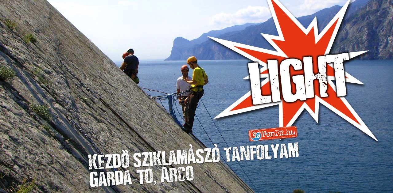 Kezdő sziklamászó tanfolyam, Arco-Garda-tó LIGHT verzió