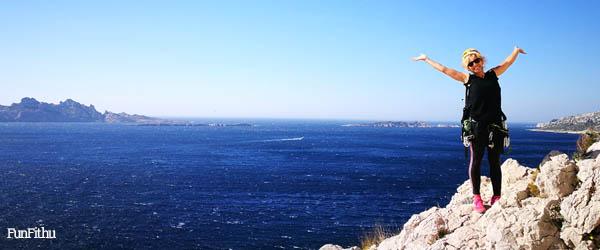 Kezdő sziklamászó tanfolyam, Les Calanques