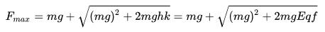 csillapitatlan harmonikus oszcillátor - leeső mászóra ható erő