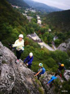 Könnyű bemelegítés a Mödlinger Klettersteig-en