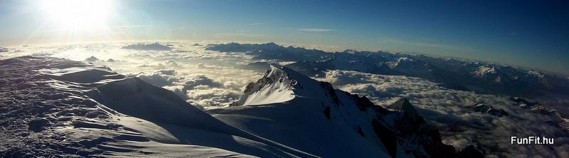 Közel a Mont Blanc csúcsa