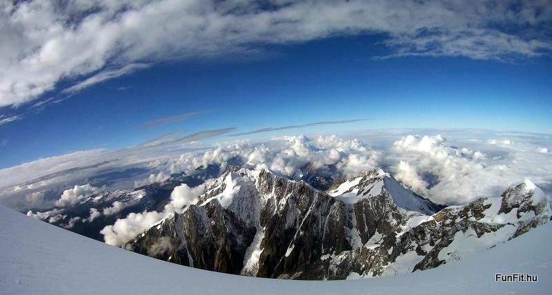 Csúcskilátás a Mont Blanc-on