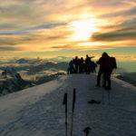 Napfelkelte a Mont Blanc csúcsán
