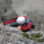 Nyári magashegyi tanfolyam, Dolomitok. Itt épp a Cinque Torri, Torre Grande-jén mászunk
