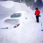 Autómentési gyakorlat - a tanfolyam alatt esett egy kis hó