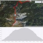 Schneeberg túra - Fadensteig térkép és szintdiagram